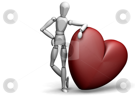 Leaning heart stock photo,  by Kirsty Pargeter