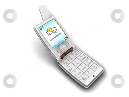 Cell Phone on White Background stock photo,  by Kirsty Pargeter