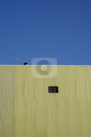 Building stock photo, Green buinding detail with the blue sky by Rui Vale de Sousa