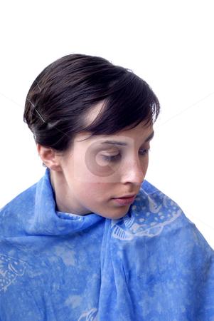 Girl stock photo, Close-up portrait of a beautiful sad woman by Rui Vale de Sousa
