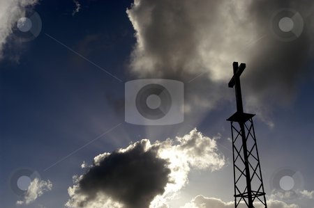 Cross stock photo, Metal cross and the sky by Rui Vale de Sousa