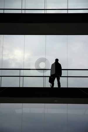 Worker stock photo, Young business man in the office building by Rui Vale de Sousa