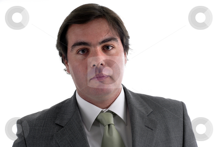 Caucasian stock photo, Young confident businessman portrait isolated on white by Rui Vale de Sousa