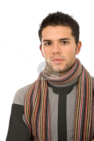 Portrait stock photo, Young man portrait, isolated on white background by Rui Vale de Sousa