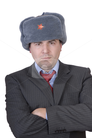 Russian stock photo, Young casual man portrait with a russian hat by Rui Vale de Sousa