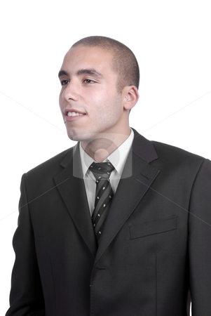 Male stock photo, Close up young man portrait isolated on white by Rui Vale de Sousa