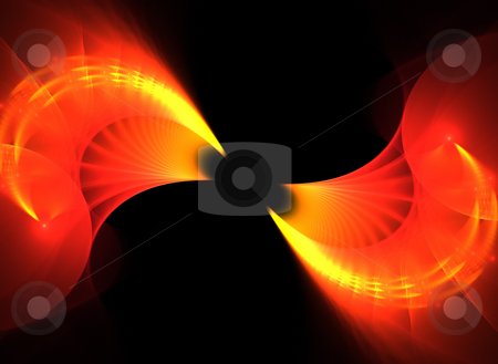 Fiery Fractal Twirl stock photo, A unique fractal background texture that will enhance any design. by Todd Arena