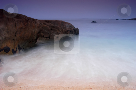 Beach stock photo, Beach at dawn at the south of portugal by Rui Vale de Sousa