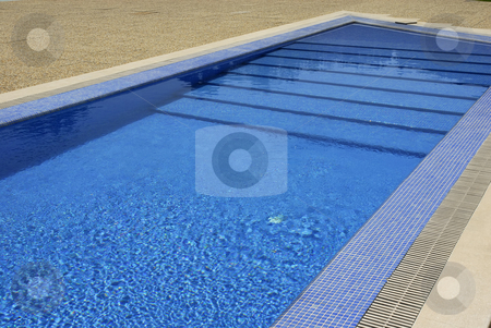 Pool stock photo, Swimming pool blue water detail in the summer by Rui Vale de Sousa