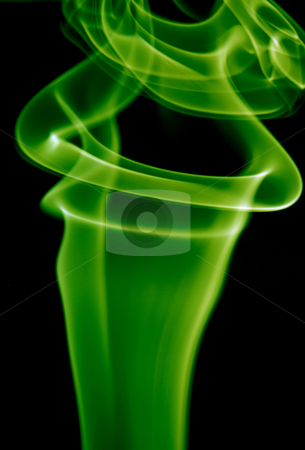 Green stock photo, Abstract green smoke in a black background by Rui Vale de Sousa