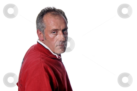 Adult stock photo, Casual adult male portrait isolated on white by Rui Vale de Sousa