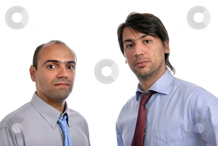Two stock photo, Two young business men portrait on white by Rui Vale de Sousa