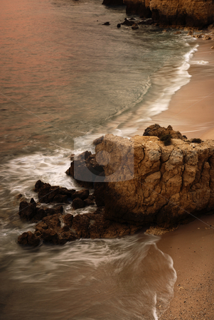 Coast stock photo, Slow shutterspeed picture at the coast of spain by Rui Vale de Sousa