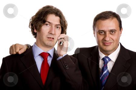 Business men stock photo, Two young business men portrait on white. by Rui Vale de Sousa