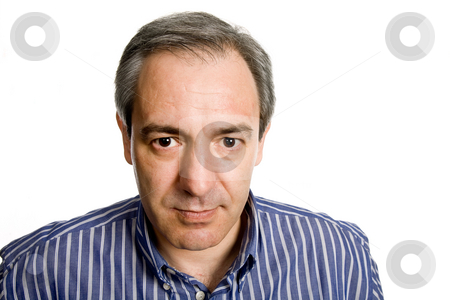 Mature stock photo, Mature casual man portrait, isolated on white by Rui Vale de Sousa