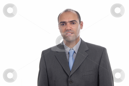 Portrait stock photo, Young business man portrait isolated on white. by Rui Vale de Sousa