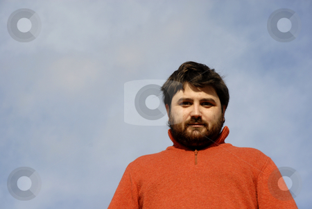 Male stock photo, Young casual man with the sky as background by Rui Vale de Sousa