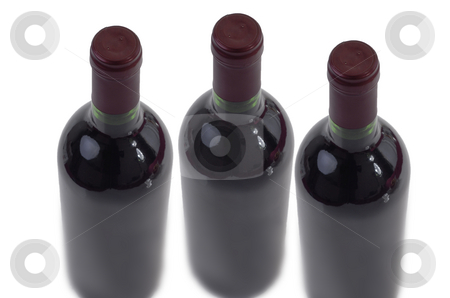 Bottles stock photo, A few bottles of wine isolated on white by Rui Vale de Sousa