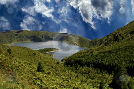 Lake stock photo, Azores lake of fire by Rui Vale de Sousa