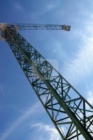 Crane stock photo, Crane detail and the sky by Rui Vale de Sousa