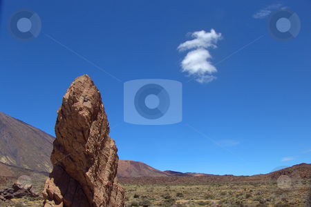 Rock stock photo, Big rock in the teide on tenerife island by Rui Vale de Sousa