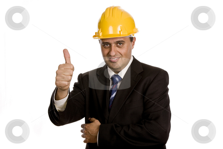 Thumb up stock photo, Young business man with his thumb up by Rui Vale de Sousa