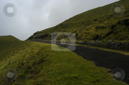 Road stock photo, Road in the mountains in azores island by Rui Vale de Sousa