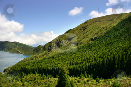 Lake stock photo, The lake of fire in azores island of sao miguel by Rui Vale de Sousa