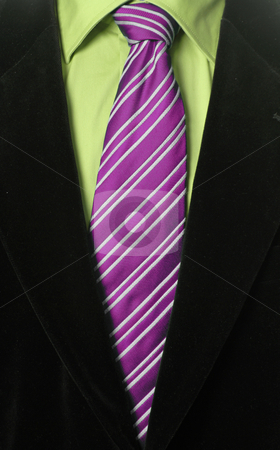 Purple tie stock photo, Detail of a Business man Suit with purple tie by Rui Vale de Sousa
