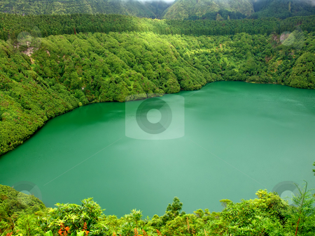 Lake stock photo, Lake of fire in sao miguel island, azores by Rui Vale de Sousa