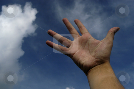 Hand stock photo, Open hand and the sky by Rui Vale de Sousa