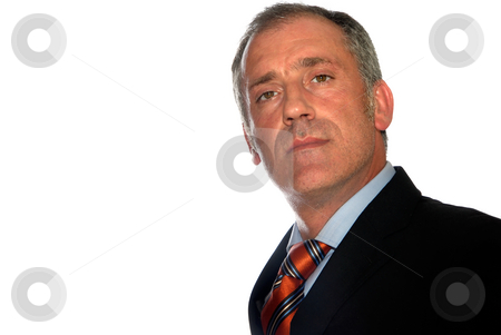Man stock photo, Business man full of thoughts - isolated over a white background by Rui Vale de Sousa