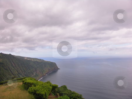 Island stock photo, Land and ocean of azores by Rui Vale de Sousa