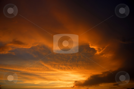 Sunset stock photo, Orange sunset sky at the north of Portugal by Rui Vale de Sousa