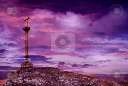 Cross stock photo, Cross detail and the clouds at sky by Rui Vale de Sousa