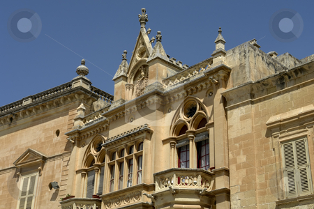 Gothic stock photo, Gothic Architecture on medieval palace in island of Malta by Rui Vale de Sousa