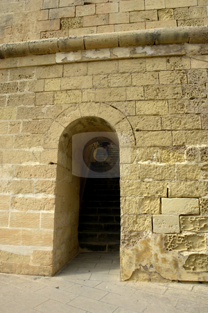 Door stock photo, Ancient door in an old building at malta island by Rui Vale de Sousa