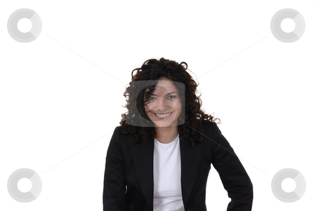Happy stock photo, Happy young business woman in a white background by Rui Vale de Sousa