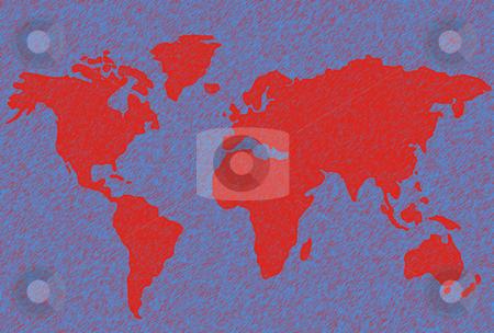 Map stock photo, World map illustration by Rui Vale de Sousa