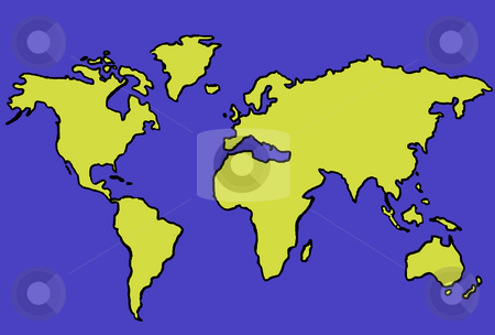 Map stock photo, World map illustration by Rui Vale de Sousa