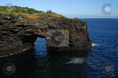 Coastal stock photo, Azores coastal cliff detail at faial island by Rui Vale de Sousa