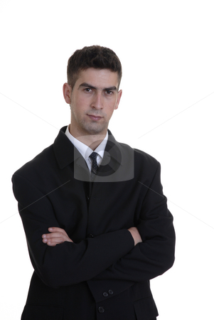 Stand stock photo, Young business man standing in a white background by Rui Vale de Sousa