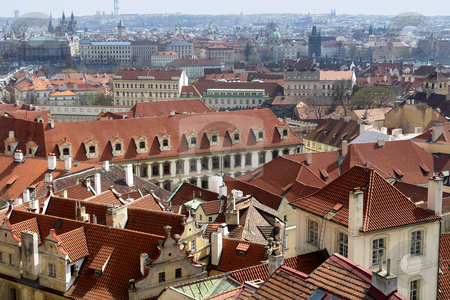 Prague stock photo, City of prague in czech republic, from above by Rui Vale de Sousa