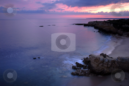 Ocean stock photo, Long Exposure of sea over rocks - dreamy feel by Rui Vale de Sousa