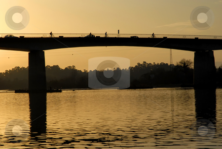 Bridge stock photo, Bridge at sunset in the north of portugal by Rui Vale de Sousa