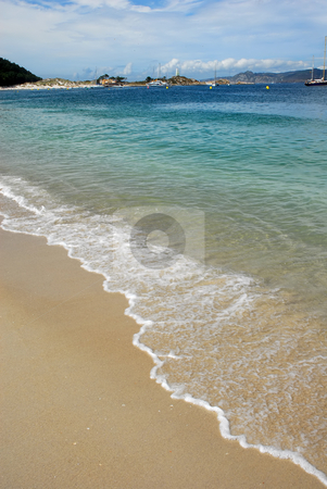 Beach stock photo, Boats at the beach, spanish island of Cies by Rui Vale de Sousa