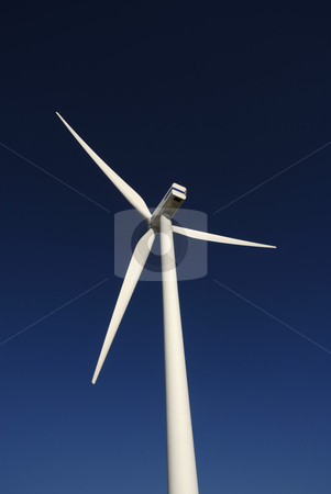 Alternate stock photo, Modern white wind turbine or wind mill producing energy by Rui Vale de Sousa
