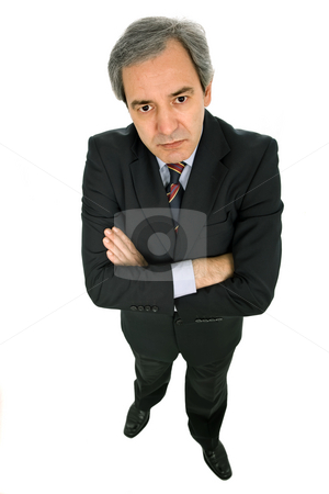 Looking stock photo, Mature business man isolated on white background by Rui Vale de Sousa