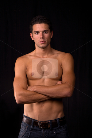 Sensual stock photo, Young sensual man on a black background by Rui Vale de Sousa