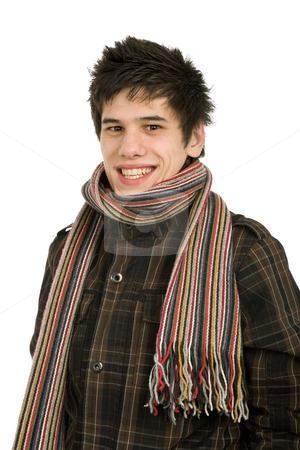 Young stock photo, Studio picture of a young man dressed for winter by Rui Vale de Sousa